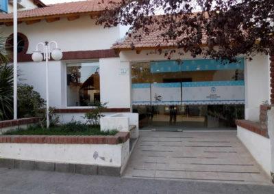 Vista Frente Hotel Chos Malal.